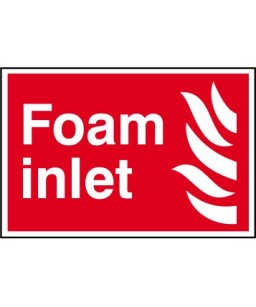Foam inlet Sign