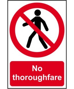 No thoroughfare Safety Sign