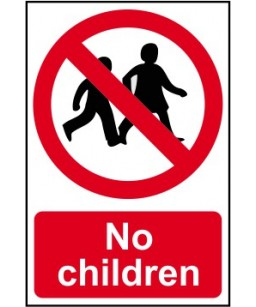 No children Safety Sign