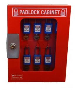 Padlock Cabinet 10 Hook