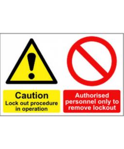 Caution Lockout procedure...