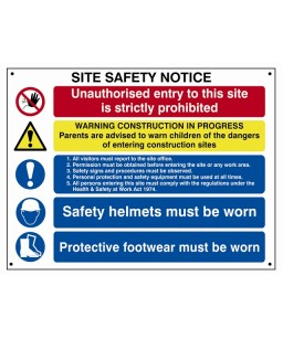 Composite Site Safety Notice 800 x 600mm
