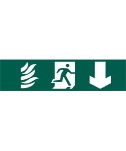 Running Man Arrow Down