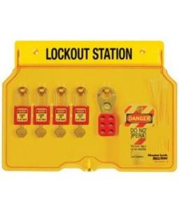 4 Lock Padlock Station