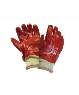 Fully Coated Red PVC Cotton Glove (12s)