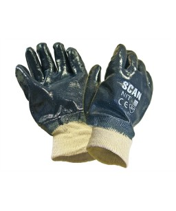 Nitrile Knitwrist Heavy-Duty Gloves (12s)