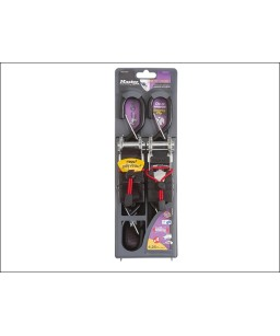 Ratchet Tie Down with S Hooks 4.25m (Pack of 2)