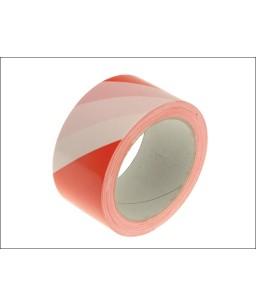Self-Adhesive Hazard Warning Safety Tape 33m Red & White