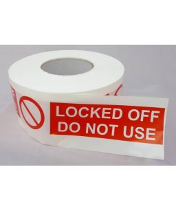 Locked Off Do Not Use Barrier Tape 250m x 75mm