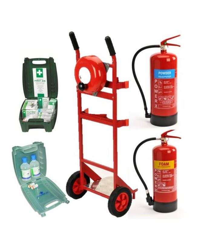 Mobile Unit - Bell - 6kg Powd-6Ltr  Foam - First Aid - Eye Wash