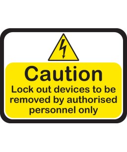 Lockout Tagout Peel & Stick Signs - Size - 20 cm x 15 cm (4pack)