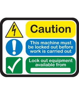 Lockout Tagout Peel & Stick Signs - Size - 20 cm x 15 cm (4pack)