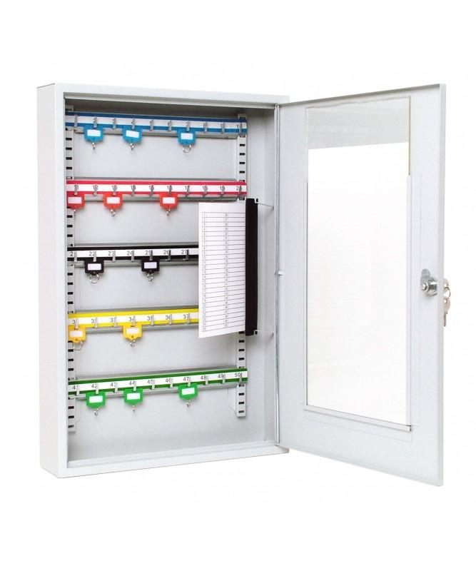 Heavy Duty Key Cabinet 50 Keys with Window