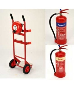 Mobile Fire Point + Bell + 6kg Powder + 6Ltr  Foam Extinguisher