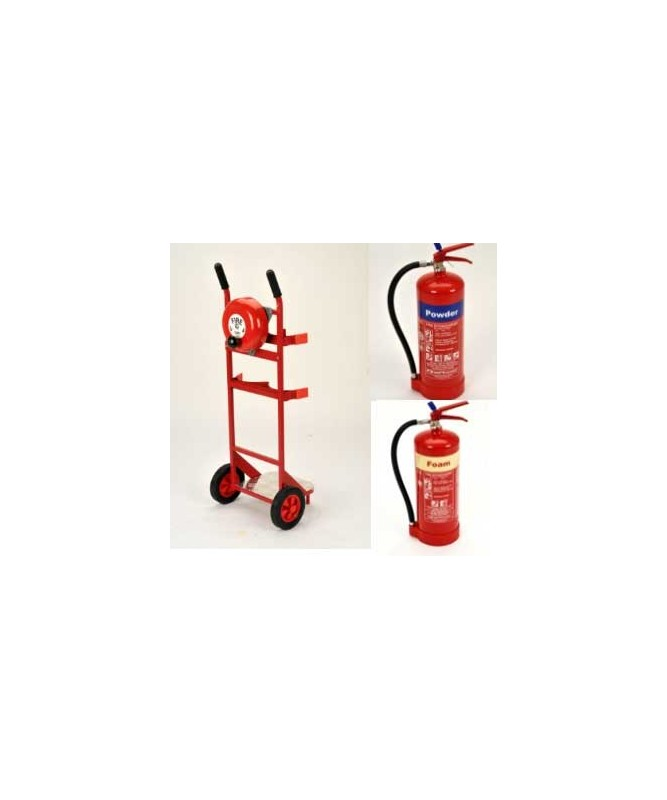 Mobile Fire Point + Bell + 6kg Powder + 6Ltr  Foam Extinguisher
