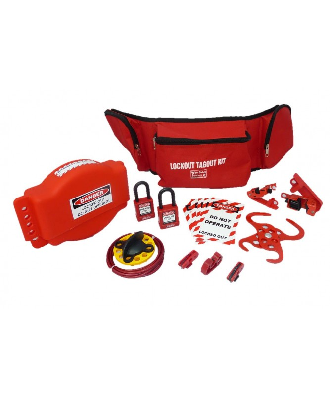 NEW Work Safe Electrical & Valve Lockout Kit   02