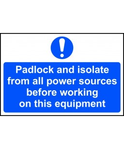 Padlock and isolate from...