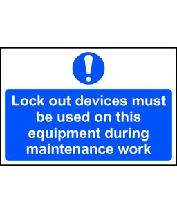 Lock out devices must be...