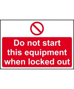 Do not start this equipment...