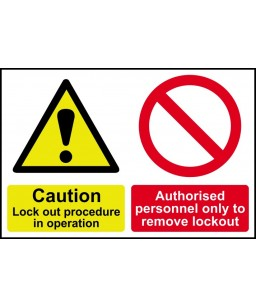 Caution Lockout procedure...