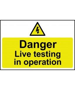 Danger Live testing in...