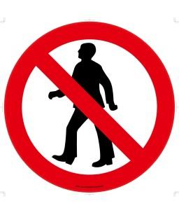 No Pedestrian