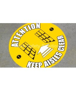 Attention Keep Aisle Clear