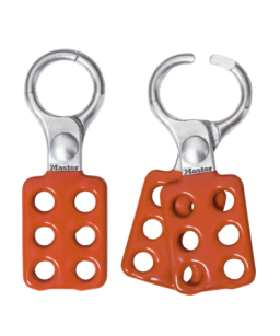 Safety Hasp, Aluminium, Small, Red Handle