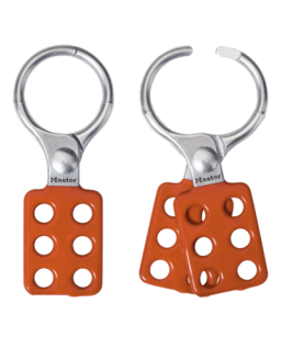 Safety Hasp, Aluminium,  Large,  Red Handle