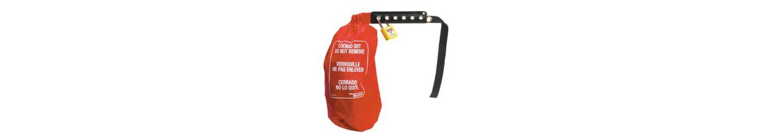 Lockout Bags & Oversized Plug Covers in a Range of Sizes on Sale