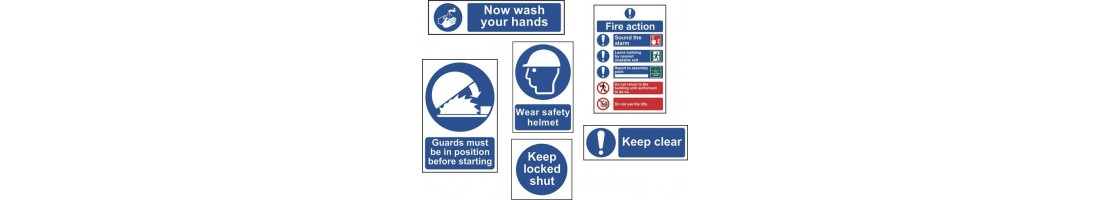 Heath and Safety signs
