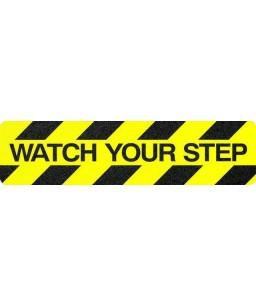 WARNING Safety Grip Tread