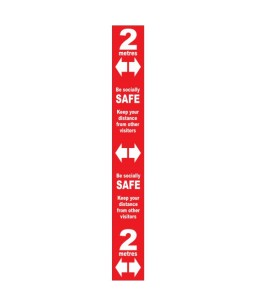 Floor distance marker - Red SAV LAM (800 x 100mm)