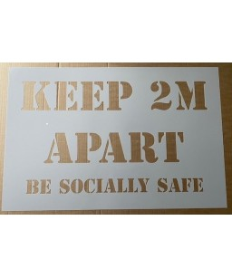 Keep 2m apart - Be socially safe (Stencil)
